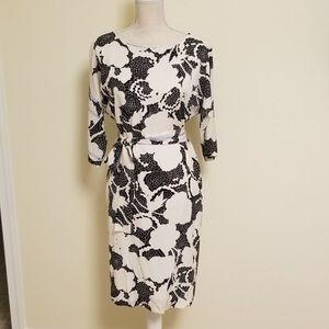 Dian Von Furstenberg dress 6 maja two black white